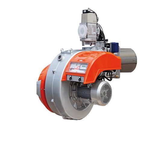 TBG MC. Brûleurs à gaz à deux allures progressives / modulantes avec came mécanique.