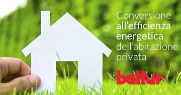 Conversione all'efficienza energetica dell'abitazione privata
