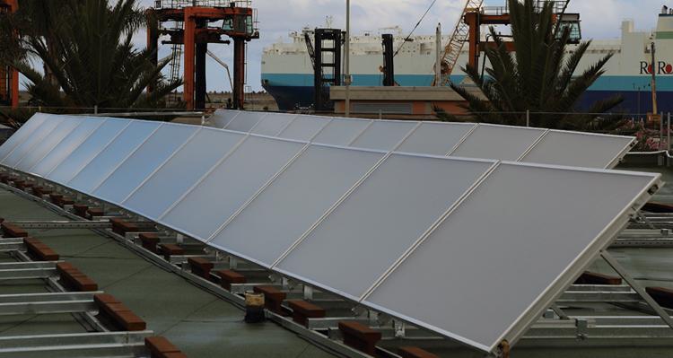 Impianto solare Baltur al Medcenter Container Terminal