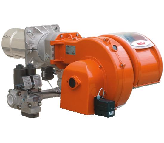 TBG LX ME V CO. Gasbrenner mit zwei progressiven/modulierenden Stufen mit geringem Schadstoffausstoß, mit elektronischem Nocken.