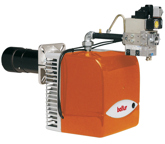 BTG LX. Progressive/modulating two-stage gas burners with low polluting emissions with pneumatic regulation.