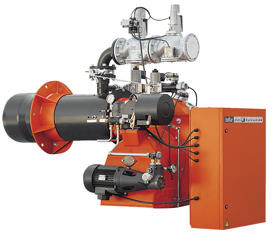 GI MIST DSPGM. Öl-/Gas-Zweistoffbrenner mit zwei progressiven / modulierenden Stufen.