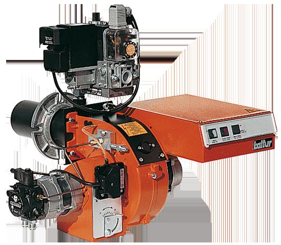 MINICOMIST. Einstufige Öl-/Gas-Zweistoffbrenner. Alternativer Betrieb.