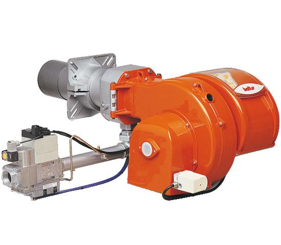 TBG LX PN. Bruciatori di gas a due stadi progressivi/modulanti a basse emissioni inquinanti con regolazione pneumatica.