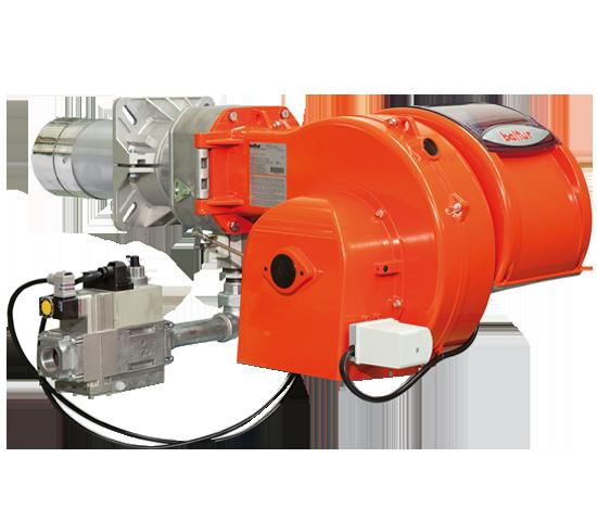 TBG PV. Brûleurs à gaz à deux allures équipés de convertisseur de fréquence (inverseur).