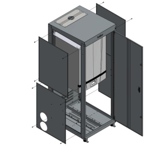 Box modulare da esterno. Per caldaie serie Smile Energy
