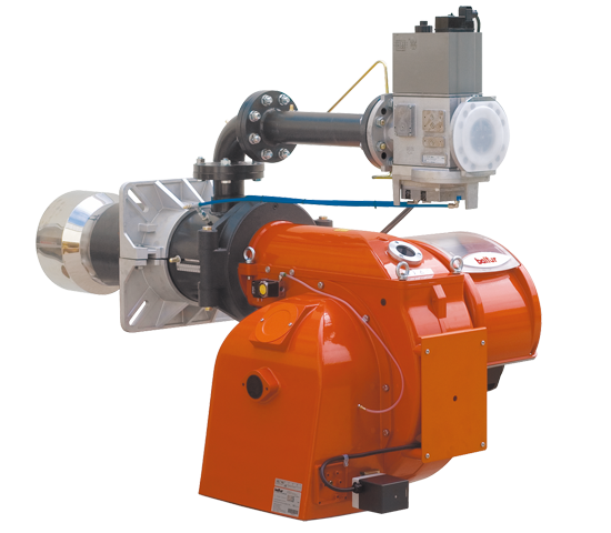 BGN LX. Progressive/modulating two-stage gas burners with low polluting emissions with pneumatic regulation.