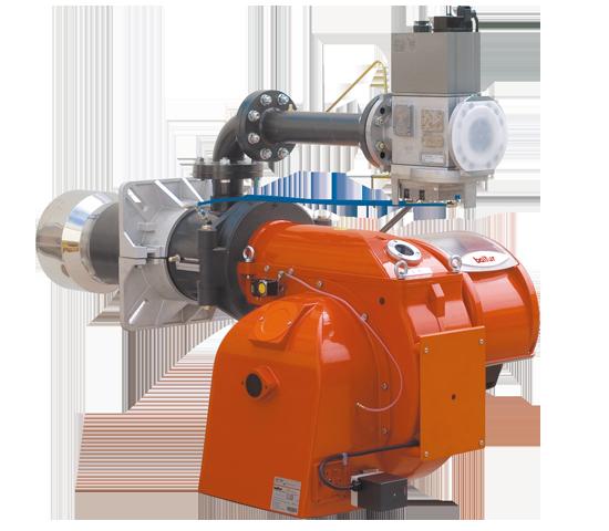BGN LX ME. Gasbrenner mit zwei progressiven/modulierenden Stufen mit geringem Schadstoffausstoß, mit pneumatischer Regelung.