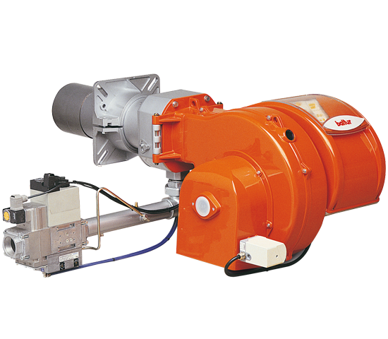 TBG LX PN. Progressive/modulating two-stage gas burners with low polluting emissions with pneumatic regulation.