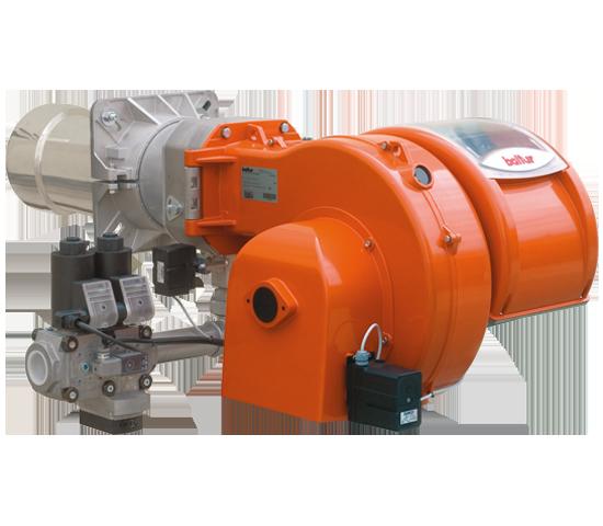 TBG LX ME V. Quemadores de gas de dos etapas progresivos/modulantes de emisiones contaminantes reducidas con leva electrónica.